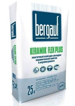 Бергауф Bergauf «Keramik» Flex Plus- эластичный клей для керамической плитки (25 кг)