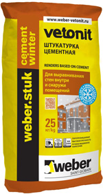 Weber STUK CEMENT WINTER ������ ����������� � ������������� ������������ ���������� (25��)