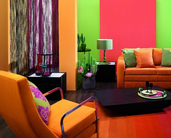 Дизайн интерьера красками